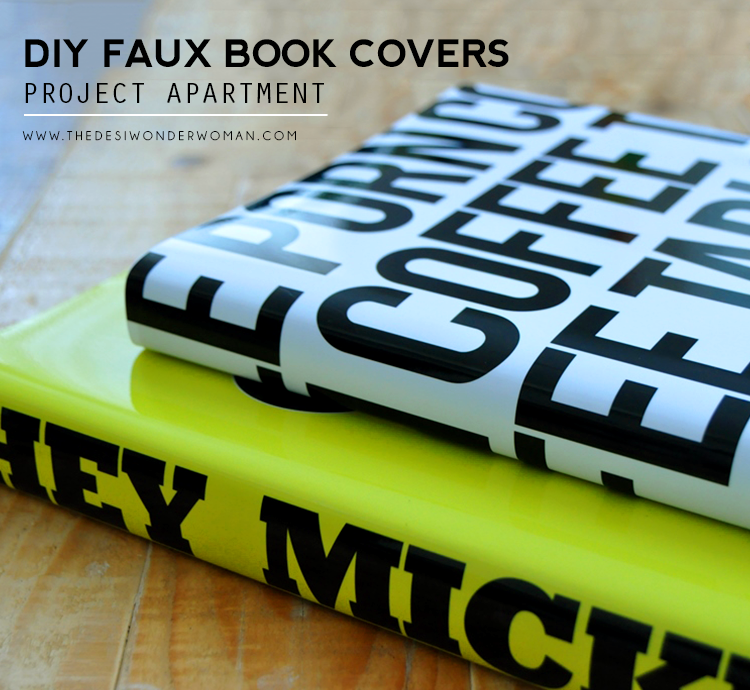 project apartment: diy faux book covers - the desi wonder woman
